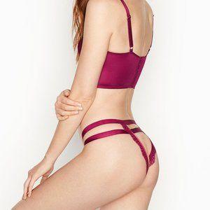 VictoriaSecret Strappy Cheekini Panty XL NWT